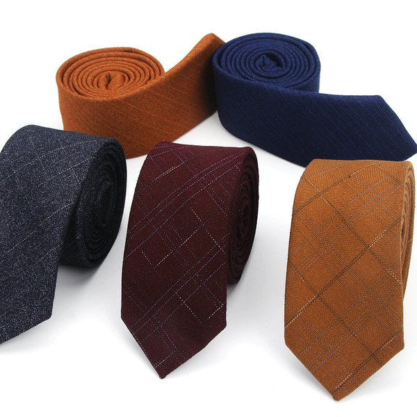 Men Tie Wool Luxury Plaid Fashion Slim Ties Classical Brand Comfortable Mens Wedding Dress Party Business Quality Shirts Necktie