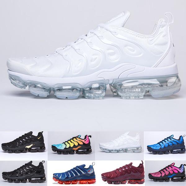 Compre Nike Vapormax Tn Plus Air Max Airmax Las Mejores Zapatillas Deportivas TN Plus Para Hombre, Mujer De Lana Gris, Juego Royal Tropical Sunset