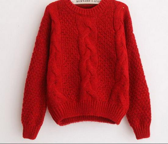 Leisure Spaghetti sweater European and American fashion women's sweater loose short Pullover round collar knitted sweater jacket