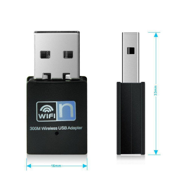 top popular Portable Mini USB wifi dongle Adapter 2.4G Wireless Wifi Receiver Extenal Network Card 300Mbps For Win 7  8 10 Mac OS Linux 2021