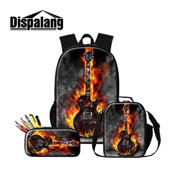 2019 New Design Luxury School Bag 3 PCS in 1 Set for Students Charm Macrame Backpack for Primary School Student Musical