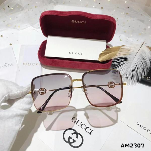 Gafas de sol de moda para mujer de verano Gafas de sol de lujo Adumbral Beach Google Glasses Style G2307 Alta calidad con caja roja