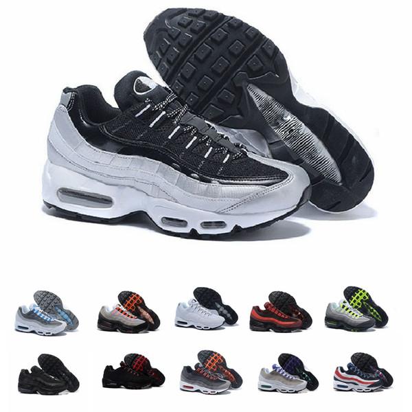 Nike Barato Mens Running Shoes Triplo Branco Preto O Que A Uva Neon Preto Vermelho Mens Formadores Sports Sneakers tamanho 40-45