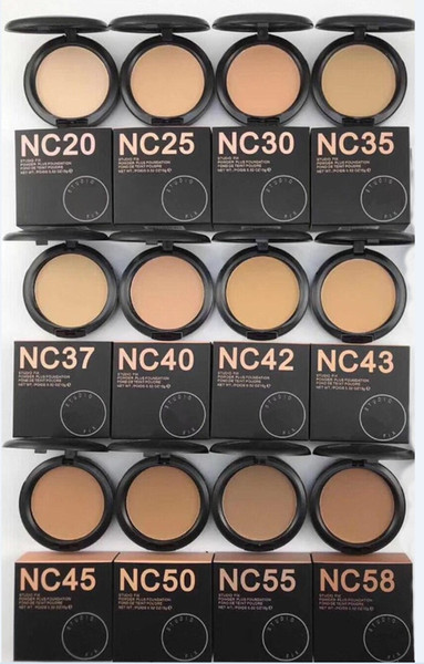 top popular NEW hot makeup high quality nc 12 color STUDIU FIX Powders puffs foundation 15g ! DHL free shippingNEW hot makeup high quality nc 12 color S 2021