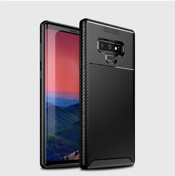 Shockproof Phone Case For Samsung S10 S10E S10 Plus Case Carbon Fiber TPU Phone Case For iphone XS MAX XR X