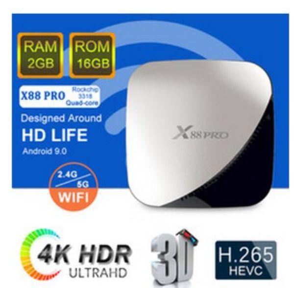 X88 pro Rockchip RK3318 Octa Core Android 9.0 4G 32G Smart TV BOX 2.4g 5g Dual WiFi 4k Set Top Box PK X96 Media Player 10pcs DHL
