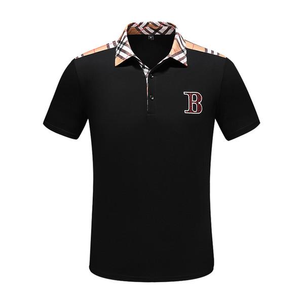 19ss bestickte Biene Polo gestreiftes Brief gedrucktes Hemd Herren T-Shirt Herren und Damen B Marke Polo-Shirt Designer POLO Shirt