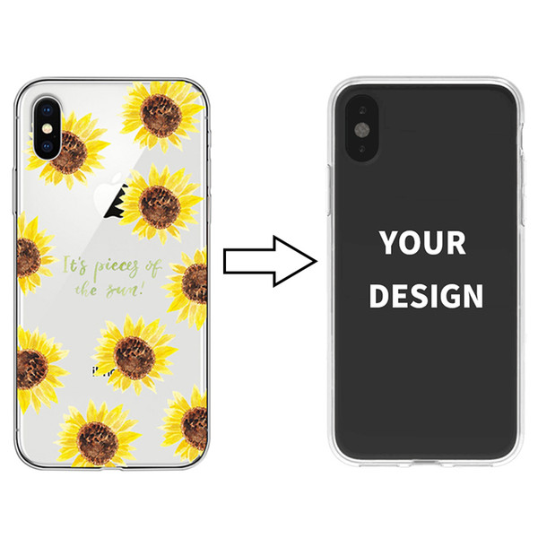 Wholesale Customized Your Picture Cell Phone Cover For iPhone XR XS MAX Soft Transparent TPU Phone Case For Samsung S10 S10 Plus