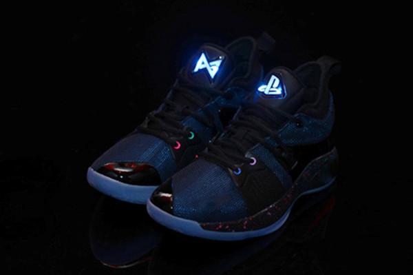 Haute Qualité PG 2 Playstation Chaussures Hommes Athlétique PG2 Playstation Chaussures Pas Cher en gros à vendre nous 7-12 viennent avec la boîte