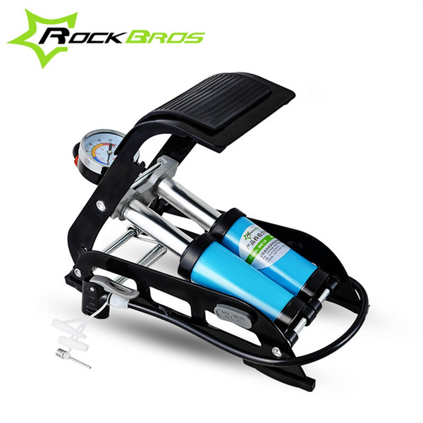 ROCKBROS High Pressure Tire Air Inflatable Pump Foot Inflator With Gauge For Car Vehicle Motorcycle Inflator Mountain Bike #107196