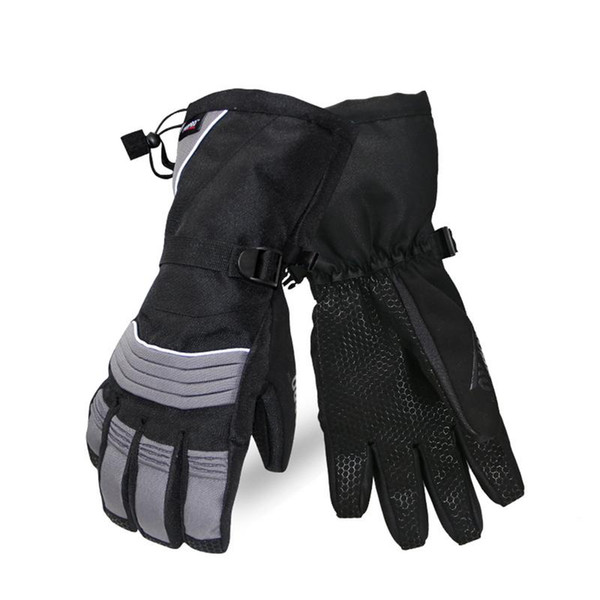 Waterproof Windproof Ski Gloves Winter Velvet Padded Warm Gloves For Men Women Thermal Ski Winter Fleece Waterproof