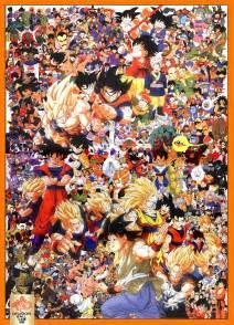 Dragon Ball Z Todos los personajes decoración de pared Arte Impresión en seda Póster 87