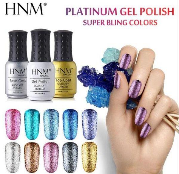 HNM 8ML Glitter UV Nagel Gel Lange LED Lampe Gel Lack Semi Permanent Gel für Nagel Gellak Nail art Gelpolish Tinte