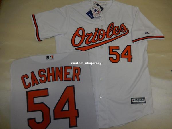 "Cheap custom ANDREW CASHNER ""Cool Base"" Baseball JERSEY WHITE Stitched Customize any name number MEN WOMEN BASEBALL JERSEY XS-5XL"