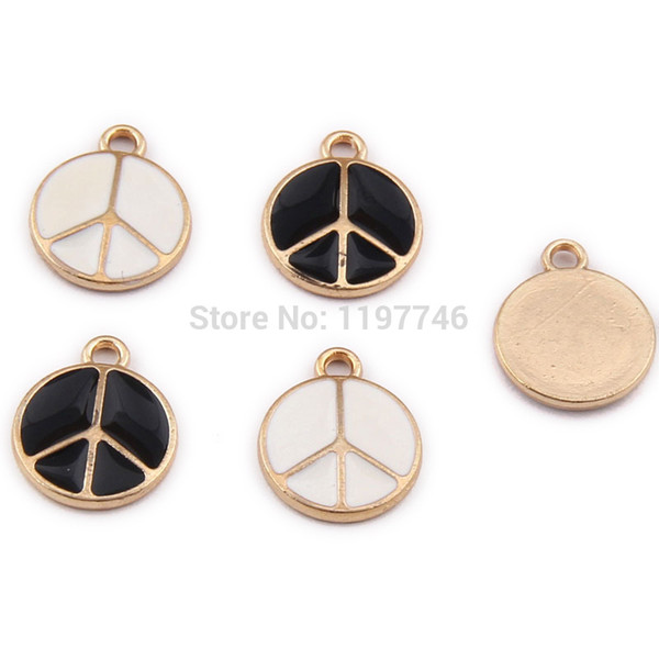 Peace Symbol Charms 20pcs 15x11mm gold color Exquisite Charm Pendant for DIY Women Earrings Jewelry Findings Craft Making