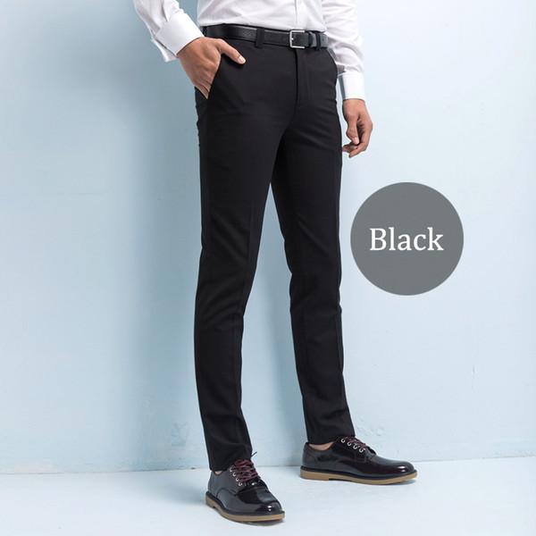 Compre Pantalones De Traje De Hombre Hechos A Medida Pantalón De Sarga Casual De Negocios Hombre Pantalones Slim Fit Pantalones De Vestir Para Hombre