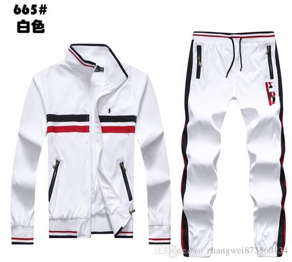 Toptan - Bahar Spor men039; ın ceketi ve pantolon takım elbise moda eşofman erkek spor takım elbise 2018 giyim seti eşofmanı