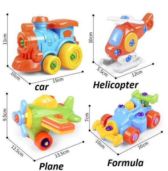 DIY Assembly Motorcycle Car/Plane/Formule Model Building Blocks Toys Early Educational Toys for Children Kids Gifts