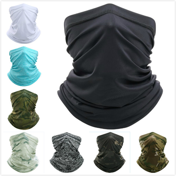 best selling Ice Silk Sunscreen Cycling Mask Summer Outdoor Bandanas Hat CS Windproof Dust Head Sets Camouflage Tactical Mask