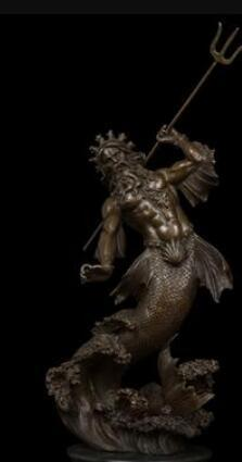copper sculpture decoration crafts high-end business gifts manufacturers selling Poseidon