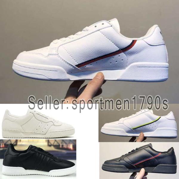 Acheter 2019 Designer Shoes Adidas Men Women New Continental 80 Chaussures De Plein Air 19ss Aero Blue Core Noir OG Blanc Remise De Coussin Hommes