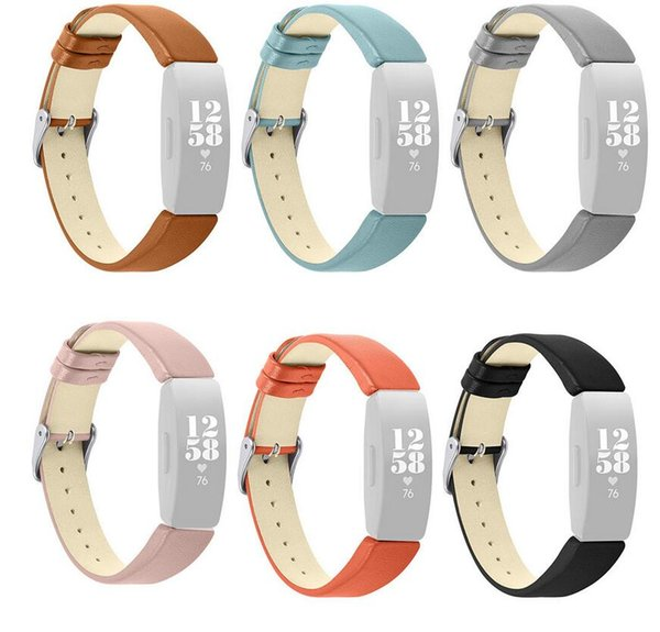 Luxury Leather Bands For Fitbit Inspire/Inspire HR Fitness Tracker watchband Replacement Accessories Wristband Straps
