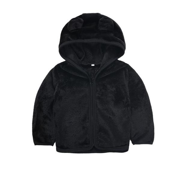 Toddler Kids Baby Girls Boys Plush Hoodie Zip-Up Coat 3D Cartoon Bear Ear Sweater Jacket Sweatshirt Costume Clothes