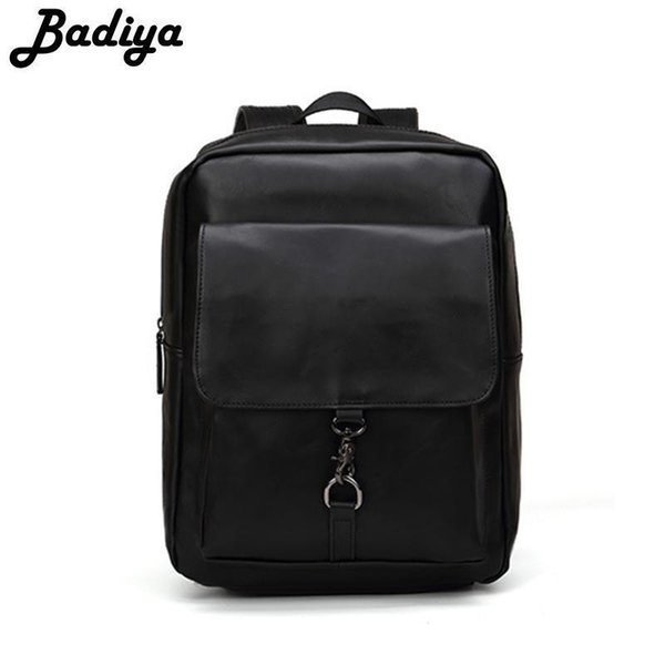 Small Fresh Style Backpack PU Leather Shoulder Bag High Capacity Outer Bag BackpacComfortable Shoulder Straps School Bags