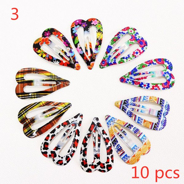 10/12PCS Print Geometric Hair Clips Barrettes Girls Cute Hairpins Colorful Hairclip Kids Hairgrips Hair Accessories New Arrival
