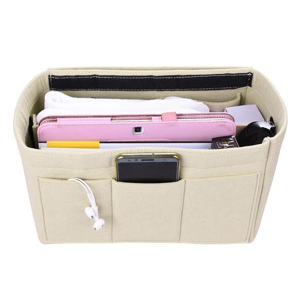 2019 Storage Bag Felt Makeup Bag Travel Cosmetic Case Organizer Handbags Insert Bag Ladies Travel Organizer Makeup Organizer XY0019