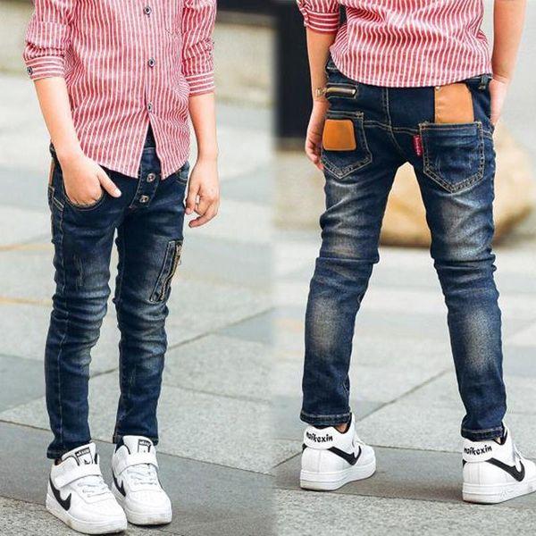 retail 2019 autumn winter cotton boys jeans kids stylish fashion trousers pencil pants roupas infantis menina leggingsMX190916