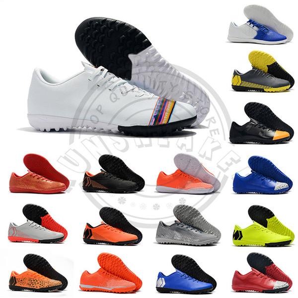 Mercurial Superfly VI Elite CR7 IC TF Botas de fútbol para interior Neymar 2019 Zapatillas de diseñador para hombre Botas de fútbol de arco iris blanco Zapatos deportivos