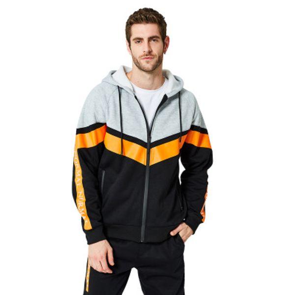 Ins Brand off Plus-size designer hoodie men custom round collar autumn European American shirt fleece double color black Cardigan jumper Sup