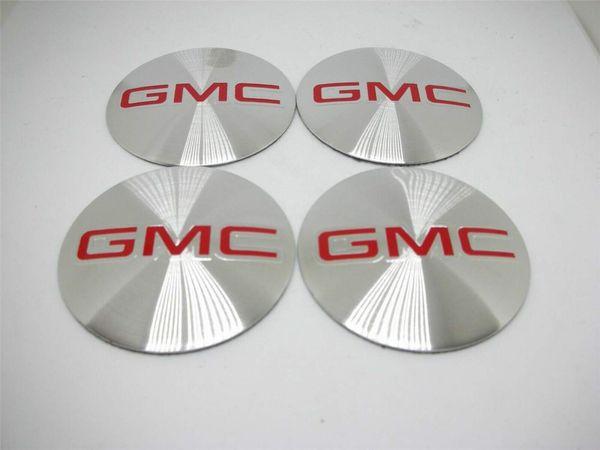 4 X 56 MM Auto Radmitte Radkappe Emblem Abzeichen Aufkleber Aufkleber für GMC Silber