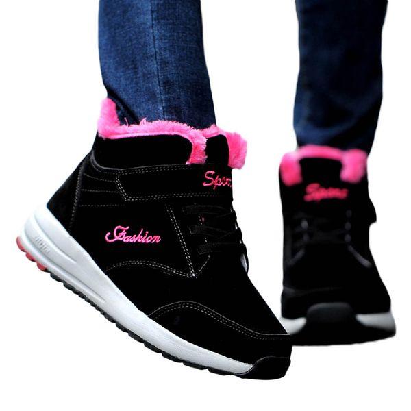 MUQGEW fashion boots Women Winter Snow Women Keep Warm Breathable Plush Running Shoes Outdoor Sneaker Keep warm shoes Female