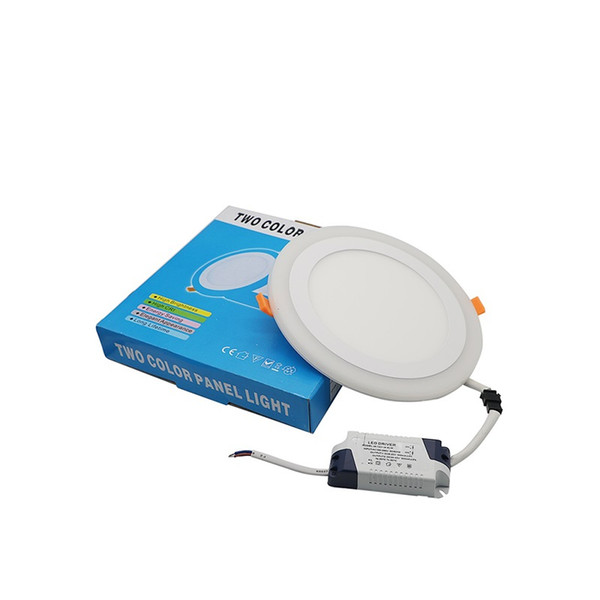 High Quality Ultra Thin White RGB Round Panel Light Dimmable LED Ceiling Recessed Grid Downlight For Garden