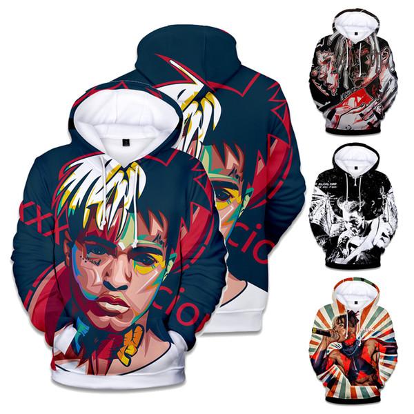 XXXTentacion Hoodie Sweatshirt 12 Designs 3D Printed Mens Hoodies Loose Pullover Hip Hop Styles Mens Designer Hoodies ESS104