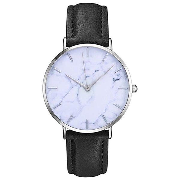 Moda mujer de cuero clásico femenino reloj de cuarzo para mujer reloj de  pulsera Montre Roman dad6ef1c4a34