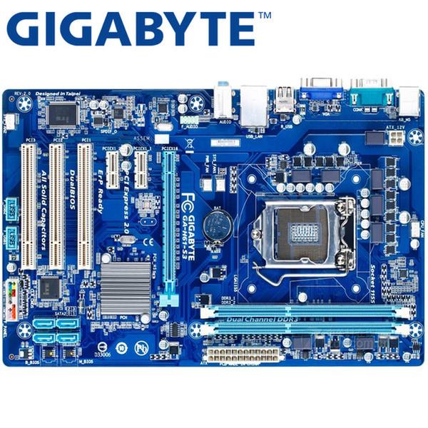 GIGABYTE GA-H61-H61 S3 escritorio placa madre socket LGA 1155 i3 i5 DDR3 16G ATX original H61-S3 Usado