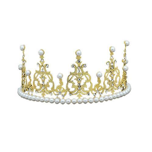 Königin Prinzessin Crown Diadem Grün Rot Strass Gold Kopfschmuck Kopf Kristall Tiara Braut Hochzeit Haarschmuck Zubehör