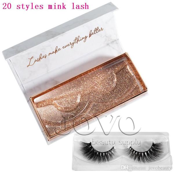 JOVO BEAUTY High Quality 128 Styles Real Siberian Eyelashes Mink 3D Mink Lashes With Box Eye Lash Thick 3D Mink Eyelash