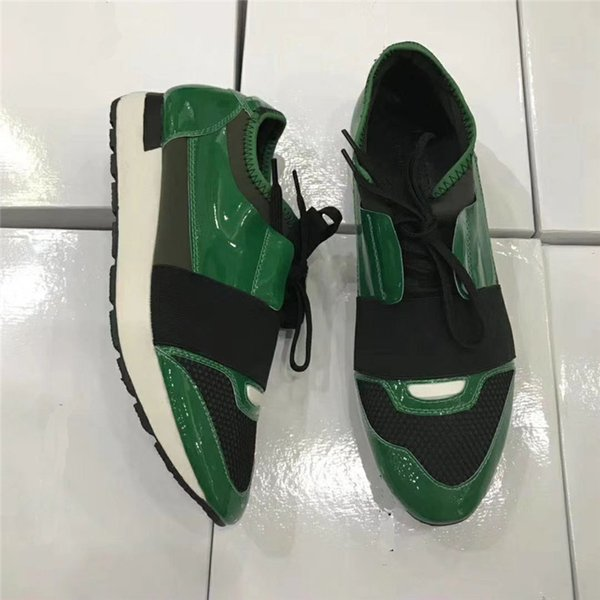 Leather toe/green