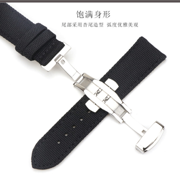 Brand New 18mm 20mm 22mm 24mm Replacement Watch Band with Stainless Steel Deployment Buckle Metal Clasp