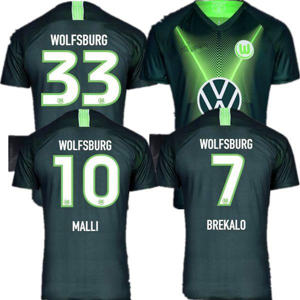 2019 2020 Wolfsburgo WEGHORS camisetas de fútbol 19 20 hogar lejos camiseta de fútbol maillots Ginczek MEHMEDI NMECHA ROSELLóN Arnold de los pies