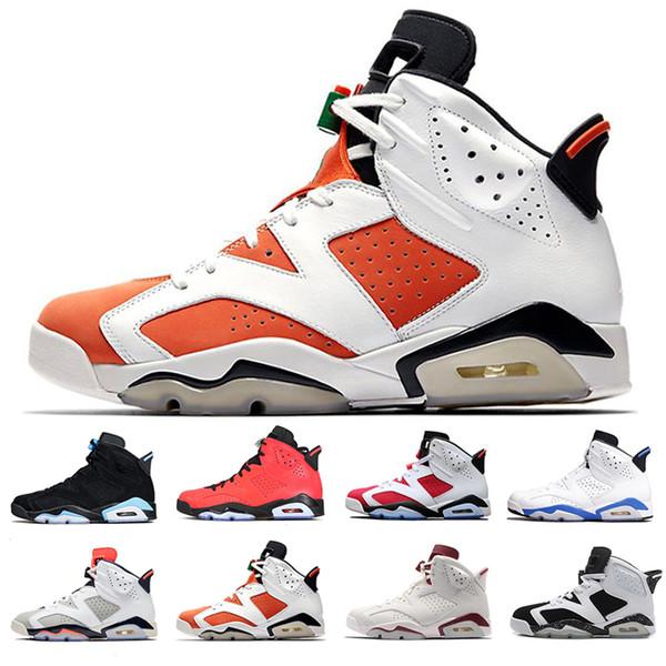 Yeni Erkekler Siyah Kızılötesi 6 6 s Basketbol Ayakkabıları Mens CNY Carmine Gatorade Yeşil Tinker UNC Siyah Kedi Tasarımcı Eğitmenler Sneakers Boyutu 40-47