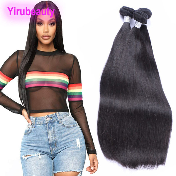 Peruvian Human Hair Long Inch 30-40inch Virgin Hair Wefts Two Bundles Natural Color Remy Human Hair Products 95-105g/piece