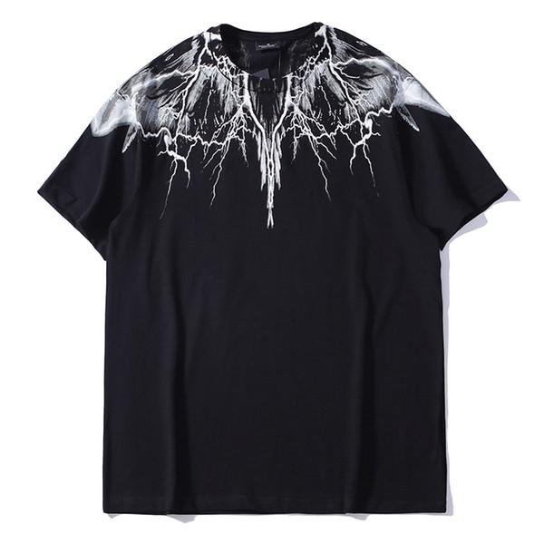 Nouvelle Marque Blanc Ailes Imprimé Designer D'été D'été Hommes TShirts M26 Italie De Mode À Manches Courtes Hip Hop Coton Tees Hommes Et Femmes Streetwear