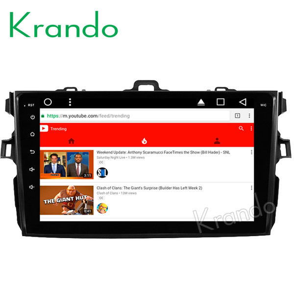 """Krando Android 8.1 10.1"""" IPS Big Screen Full touch car DVD navigation system for TOYOTA Corolla 2007-2012 audio player gps BT wifi"""