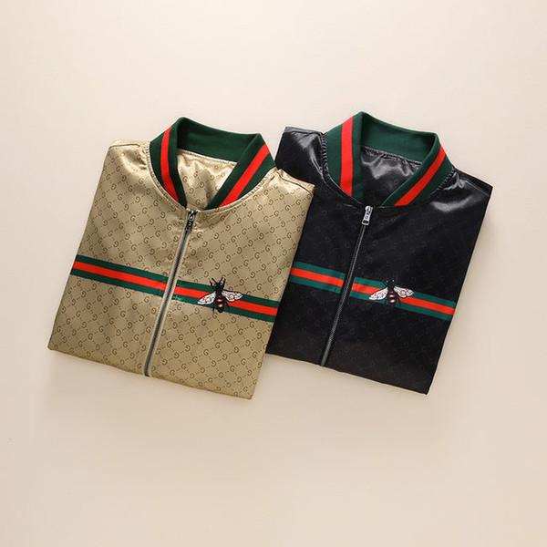 Marque designer G veste coupe-vent à manches longues veste pour hommes veste à capuche zippée avec motif de lettre animal broderie serpent vêtements MM