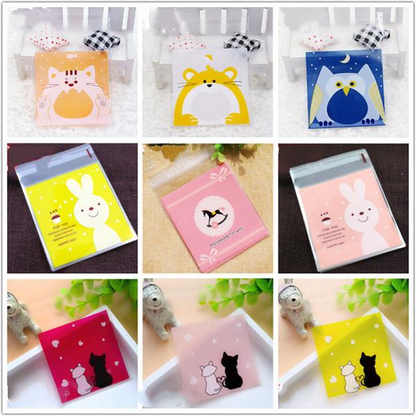 Bolsas de ift Envoltura de suministros 7x7 cm Pequeñas bolsas de plástico para conejos lindos Decoración de bodas Bolsa de dulces autoadhesiva Bolsa de embalaje de regalos Nueva Y ...